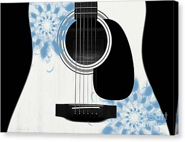 Floral Abstract Guitar 25 Canvas Print by Andee Design
