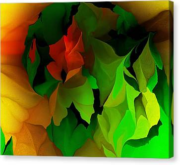 Canvas Print featuring the digital art Floral Abstraction 090814 by David Lane
