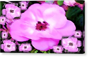 Canvas Print featuring the painting Floral Arrangement by Catherine Lott