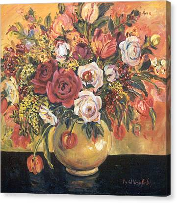Floral Arrangement Canvas Print by Alexandra Maria Ethlyn Cheshire