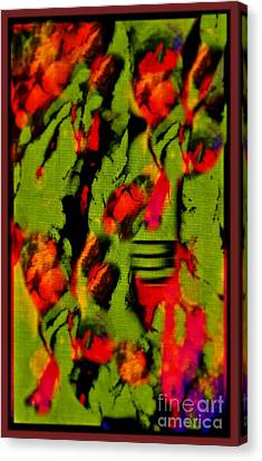 Floral Arrrangement Abstract Canvas Print by John Malone
