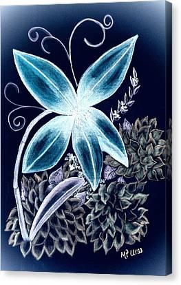 Floral Art 14-3 Canvas Print by Maria Urso