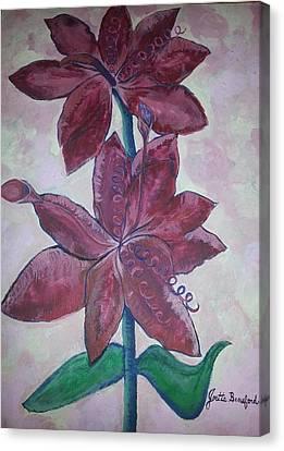 Floral Beauty Canvas Print by Joetta Beauford