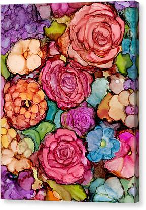 Floral Blanket Canvas Print