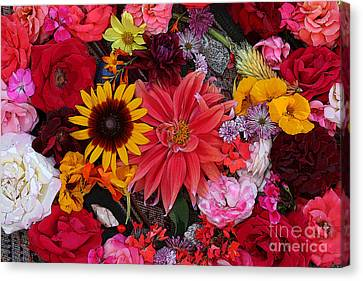 Floral Bounty 2 Canvas Print by Jeanette French