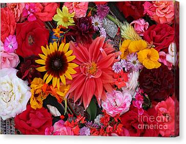 Canvas Print featuring the photograph Floral Bounty by Jeanette French