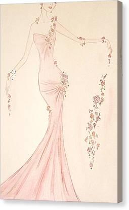 Floral Cascade  Canvas Print by Christine Corretti