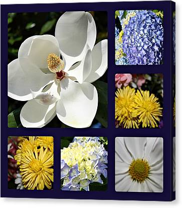Floral Collage Canvas Print by Carolyn Ricks