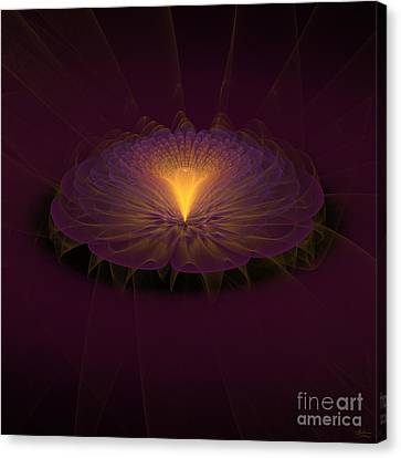 Canvas Print featuring the digital art Floral Creation by Arlene Sundby
