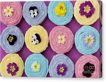 Floral Cupcakes Canvas Print by Tim Gainey