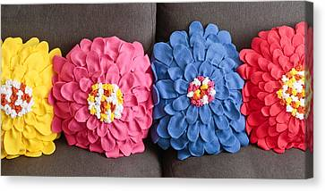 Floral Cushions Canvas Print by Tom Gowanlock