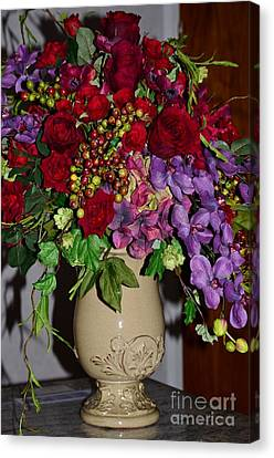 Floral Decor Canvas Print by Kathleen Struckle