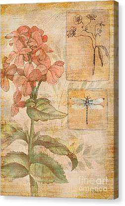 Floral Dragonfly Canvas Print by Paul Brent