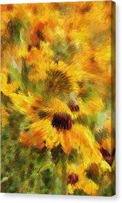 Floral Explosion Abstract Canvas Print by Georgiana Romanovna