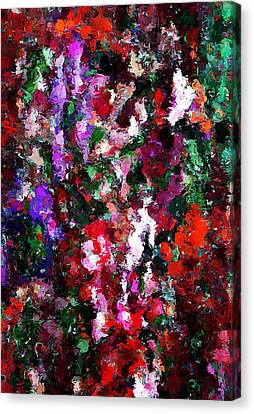 Floral Expression 021015 Canvas Print by David Lane