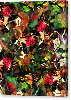 Floral Expression 121914 Canvas Print by David Lane
