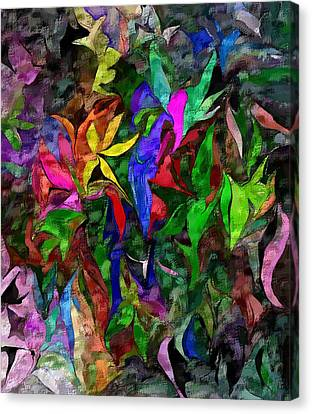 Canvas Print featuring the digital art Floral Fantasy 012015 by David Lane