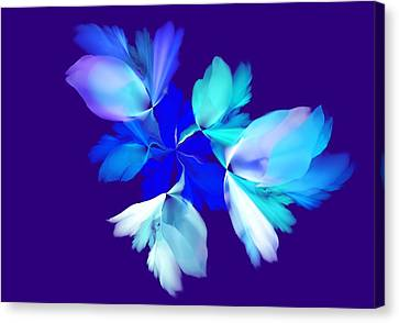 Canvas Print featuring the digital art Floral Fantasy 012815 by David Lane