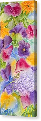 Undefined Canvas Print - Floral Glory Dos by Rhonda Leonard