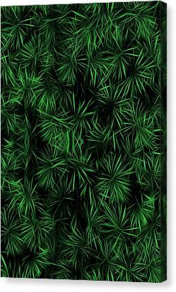 Floral Green Abstract Canvas Print by David Dehner