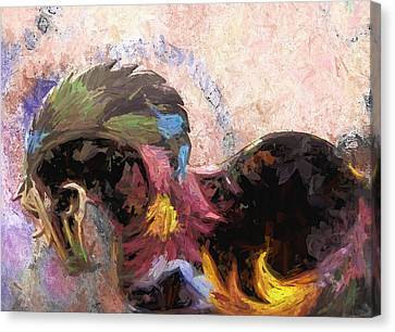 Floral Horse Canvas Print by Shannon Story