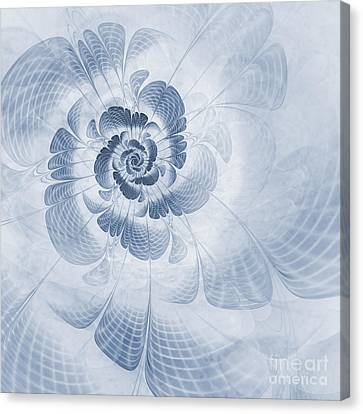 Floral Impression Cyanotype Canvas Print by John Edwards
