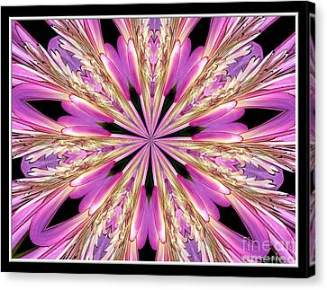 Canvas Print featuring the photograph Floral Kaleidoscope  Waterlily by Rose Santuci-Sofranko