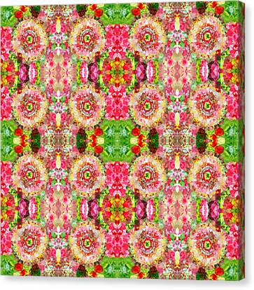 Floral Kitsch Canvas Print by Sumit Mehndiratta