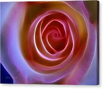 Floral Light Canvas Print by Ann Croon