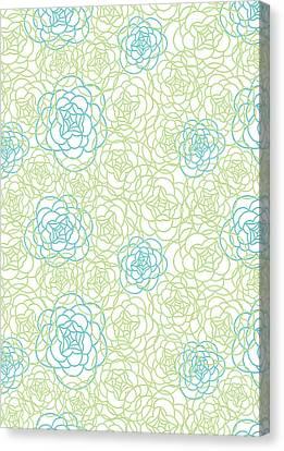Floral Lines Canvas Print by Susan Claire
