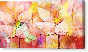 Floral Panoramic Canvas Print by Lutz Baar