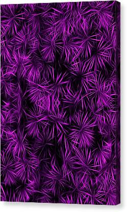 Floral Purple Abstract Canvas Print by David Dehner
