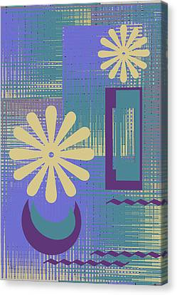 Floral Still Life In Purple Canvas Print by Ben and Raisa Gertsberg