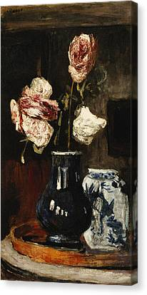 Floral Still Life Canvas Print by Roderic O Conor