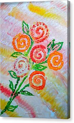 Floralen Traum Canvas Print