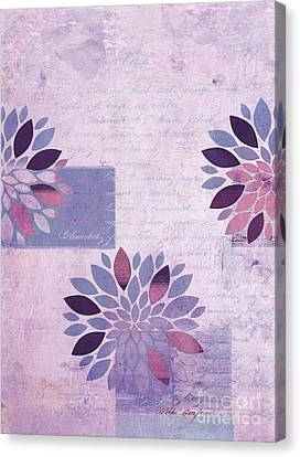 Textured Florals Canvas Print - Floralis - 554a  by Variance Collections