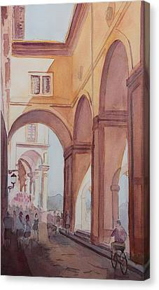 Florence Arcade Canvas Print by Jenny Armitage