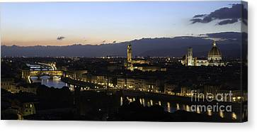 Florence At Night Canvas Print