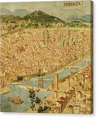Florence  Carta Della Catena Canvas Print