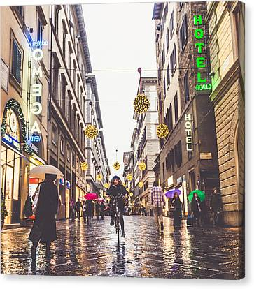 Raining Canvas Print - Florence by Cory Dewald