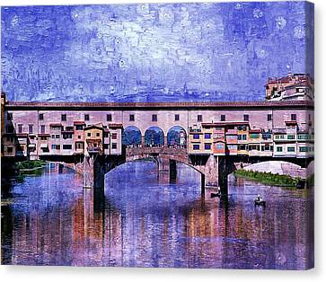 Canvas Print featuring the photograph Florence Italy by Kathy Churchman