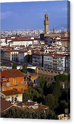 Canvas Print featuring the photograph Florence Morning 2 by Henry Kowalski