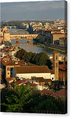 Canvas Print featuring the photograph Florence Morning 3 by Henry Kowalski