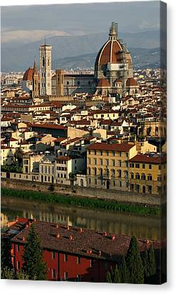 Canvas Print featuring the photograph Florence Morning by Henry Kowalski