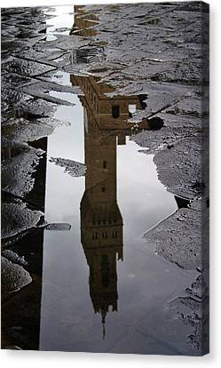 Canvas Print featuring the photograph Florence Reflection by Henry Kowalski