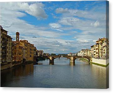 Canvas Print featuring the photograph Florence Serenade by Walter Fahmy