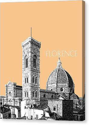Florence Skyline Cathedral Of Santa Maria Del Fiore 2 - Wheat Canvas Print by DB Artist