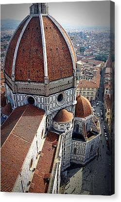 Florence Tile Roof Church Canvas Print by Henry Kowalski