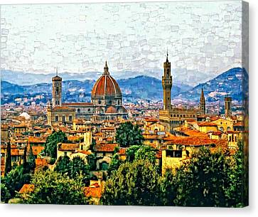 Florence Watercolor Canvas Print by Steve Harrington