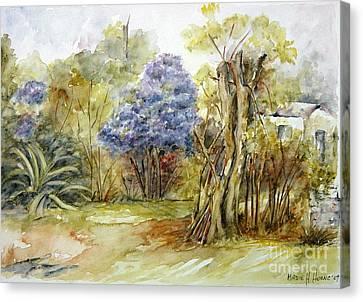 Flores Lilas Y Celestes II Canvas Print